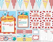 Circus Party Pack Printables // Digital files to print