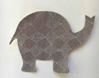 Elephant Applique - Iron on Elephant - Elephant Iron on Applique - Baby Elephant Shirt