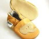 soft sole baby shoes chaussons Krabbelschuhe elephant beige yellow 18 24 Lauflernschuhe Lederpuschen chaussures garcon ebooba EL-38-Y-M-4
