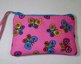 Butterflies Coin Purse Cotton Pouch Lipstick Holder Card Holder Money Purse Makeup Bag Butterfly Lovers Girl's Gift Ladies Gift