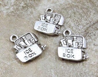 Set of Three (3) Pewter Cooler/Ice Box Charms - 1921