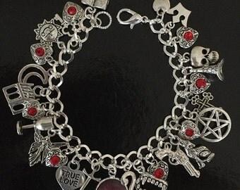 SALE True Blood Charm Bracelet, Sookie Stackhouse, Vampires, Jewelry, Jewellery, Gift