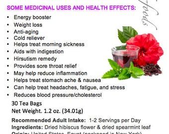Simply Natural 100% Organic Hibiscus Spearmint Herbal Tea, 30 Tea Bags – Caffeine-Free