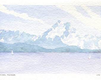 Olympic Mountains Card