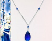 Sailor Uranus Ball Gown Inspired Necklace - Glass Crystal