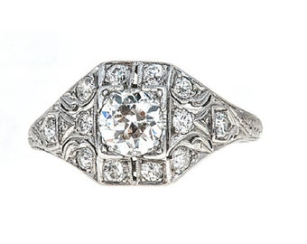 Art Deco Delight Engagement Ring