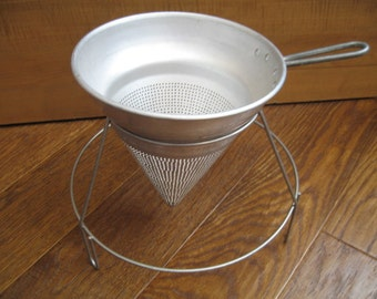 Vintage Wear Ever Aluminum Strainer/Colander With Stand