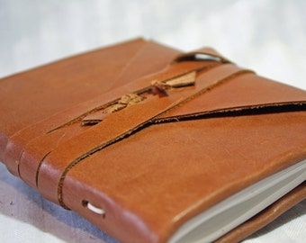 4 3/4 x 6 inch journal or sketchbook - handbound leather