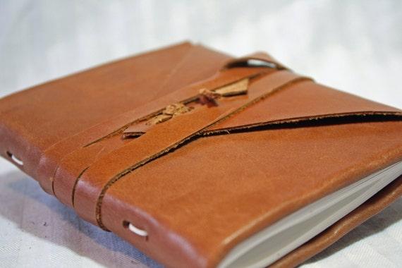 4 3/4 x 6 inch journal or sketchbook - handbound leather