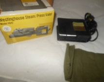 Vintage Westinghouse Steam Press, Valet, Iron Model HQ10,Original box as pictured, working order,500 Watts, 120 volts