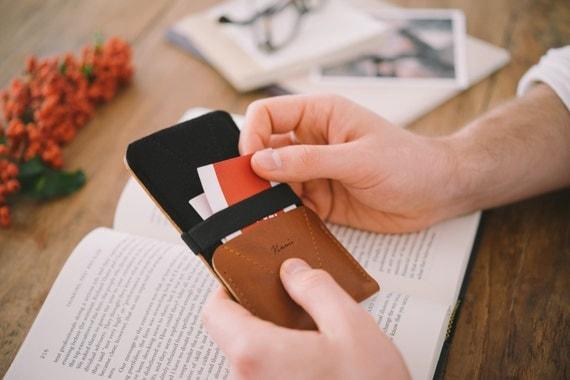 "Google Pixel Case, Pixel Wallet, Pixel Pouch, leather, wool felt, ""Kangaroo"""