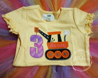 Construction Birthday Applique shirt - Customizable -  Infant to Youth 45