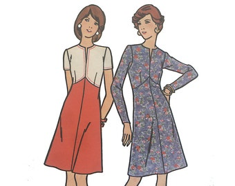 "Vintage pattern | Butterick size 8 ""Fast and Easy"" A line 1970s dress"
