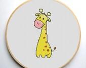 Cross stitch pattern PDF Cute giraffe Instant Download