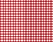 Red Gingham -  1/8 inch Gingham - Small Red Gingham - Riley Blake