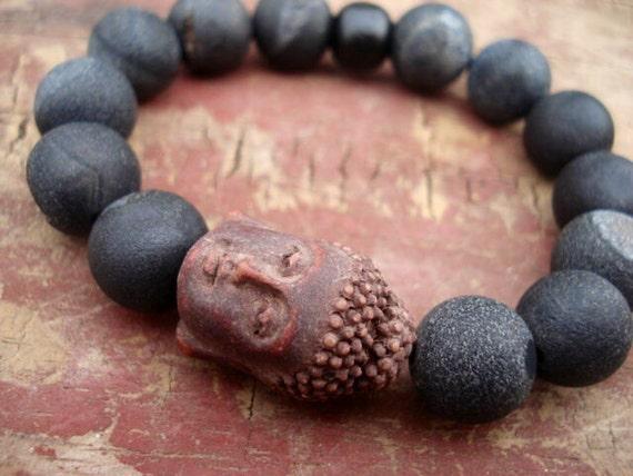 Buddha Bracelet, Black Beaded Bracelet, Mala Beads Bracelet, Yoga Jewelry, Modern Jewelry, Boho Jewelry, Buddha Beaded Bracelet, Yoga Mala
