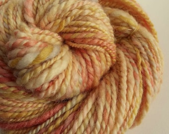 RESERVED LISTING -Pastel chunky wool, blue faced leicester yarn, knitting yarn / wool, thick bulky yarn, pale yellows and pinks