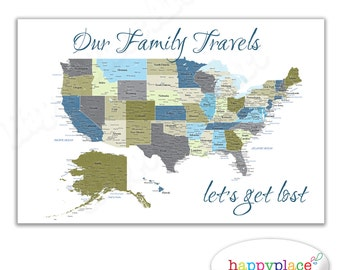 Detailed USA Map With Cities And States Labels US Map Print - Us map with labels