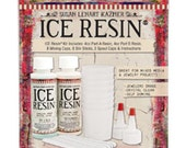 Ice Resin 8 oz Doming Kit, 4 oz Part A, 4 oz Part B, Jeweler Grade Clear Epoxy Resin, Low Odor, Self-Doming, Bezel Resin, Jewelry Resin Kit