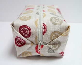 Cosmetic Bag/Boxed Zipper Pouch/Pencil Case/Make Up Bag/Gadget Bag/Cosmetic Pouch