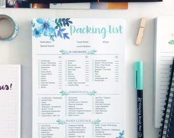A5 Packing List 2.0 Notepad Checklist Planner Stationery 30 sheets