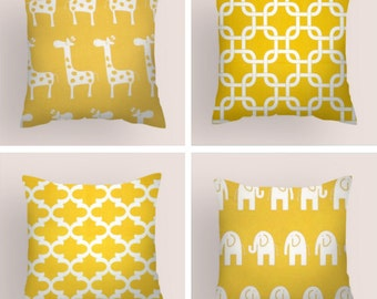 Decorative Pillows, Yellow  Pillow, Pillow Covers , Pillows, Accent Pillows,  Pillow Nursery