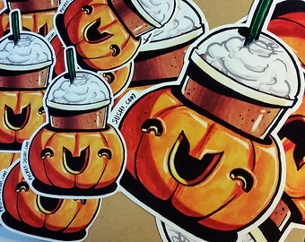 Pumpkin Spice Latte / Halloween Frappe Sticker