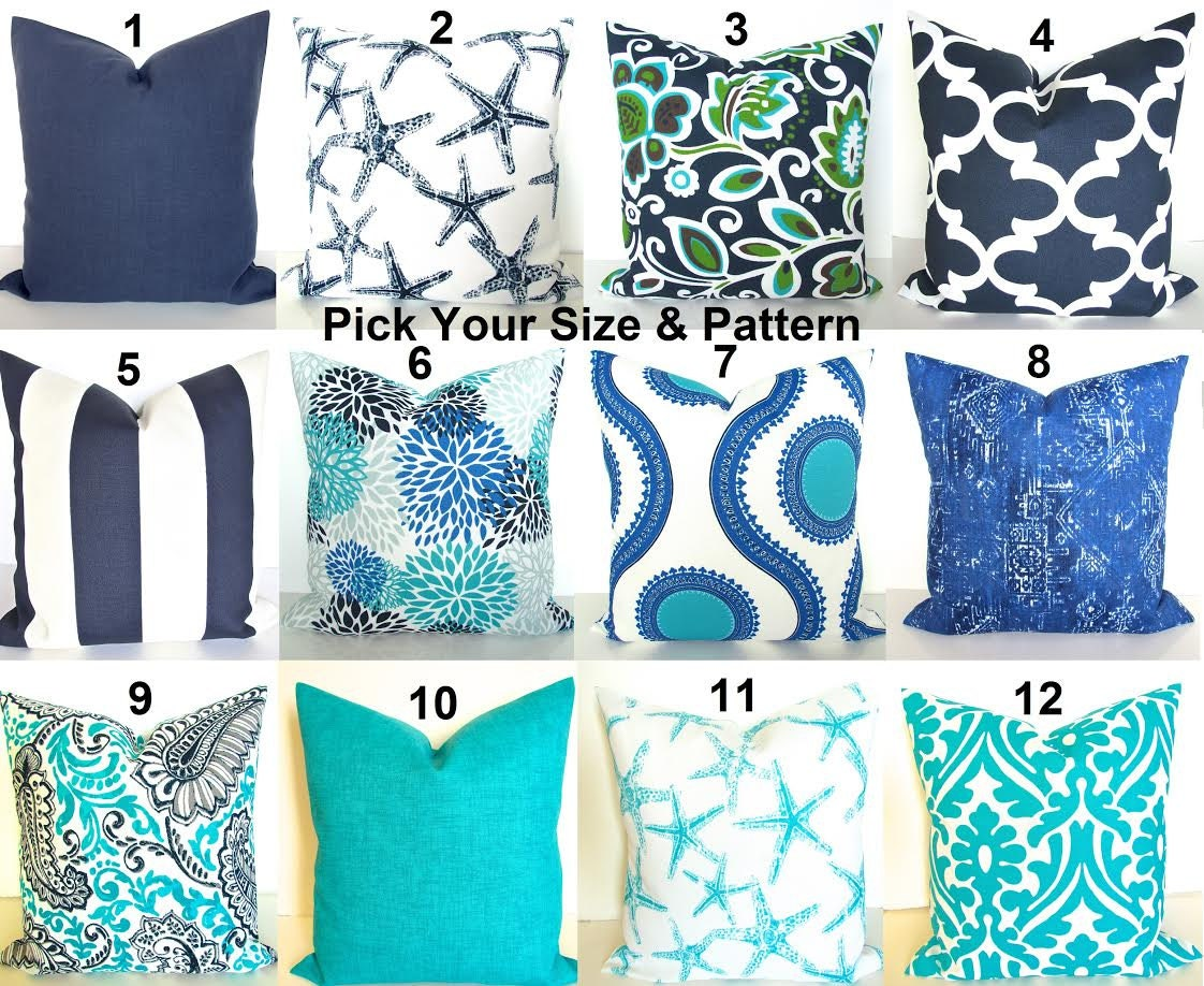 Blue And Gray Throw Pillows Part - 47: ?zoom