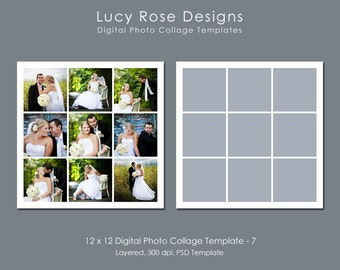 12 x 12 Photo Collage Template - 7