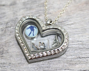 Rick Grimes Daryl Dixon Floating Locket Necklace | The Walking Dead Necklace | TWD Jewelry | TWD Floating Locket | Walking Dead Cosplay