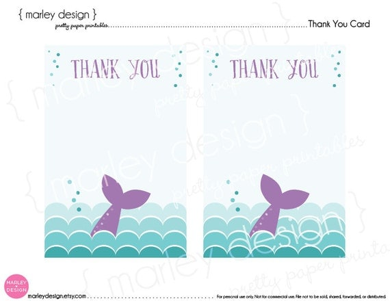 Under The Sea Mermaid Birthday Card With Pictures To Print