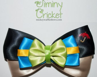 Jiminy Cricket Hair Bow