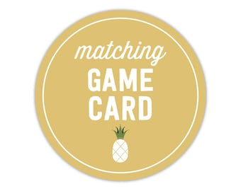 Matching Game Card - Add On - To Match Any Invitation in My Shop