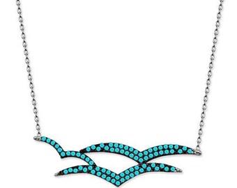 bird pendan,bird pendant necklace,bird charm,bridesmaid jewelry.Pigeon or Dove, Silver Bird pendant,