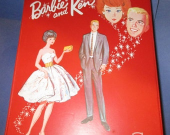 Vintage Barbie and and Ken Case