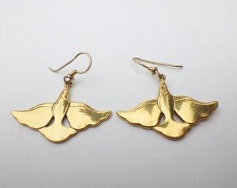 Vintage Bird Earrings signed Laurel Birch