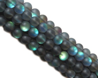Black Matte Litmus Quartz, 12mm; 1 strand