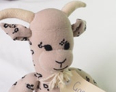 Sock toy, sock goat.  Soft plush toy billygoat. Gary Goat.