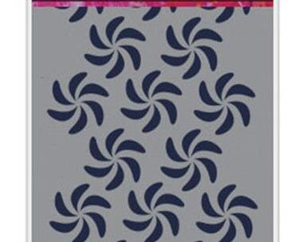 Ranger - Dina Wakley Media - Stencils - Bendy Pinwheels