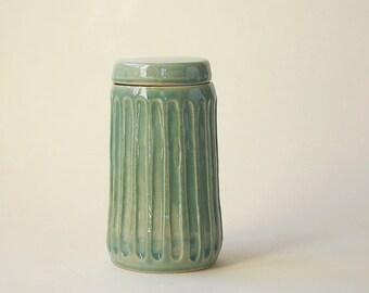 Fluted Ceramic Jar