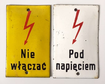 Vintage Enamel Warning Signs