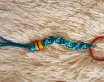 Phunky Turquoise Satin Cord Keychain