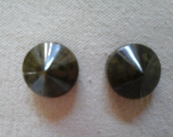 Vintage Buttons. A Pair of Vintage Celluloid 1940s Buttons.