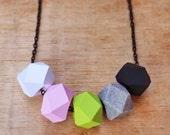 Pink Wasabi Geo Pop necklace