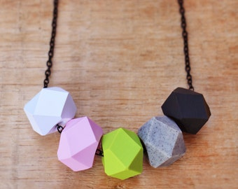 Pink Wasabi Geo Pop necklace