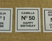 """Personalized Sticker Labels - Classic Couture Design - 12 3"""" Squares - Wedding Favor - Shower Favor - ANY OCCASION - cc5"""