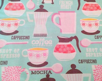 Michael Miller Fabric French Roast Aqua Cotton Fabric by the Yard CX5265-AQUA-D