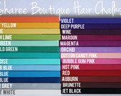 Custom 6pc. Hair Chalk Set - Choose Your Colors - Temporary Hair Coloring