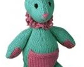 knitting pattern for babies first  toy   BABY KNITTING PATTERN baby bunny toy 20 inches dk yarn