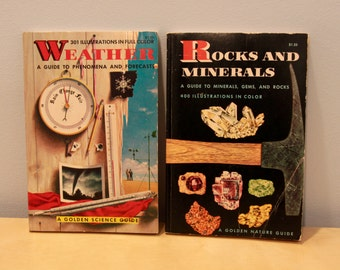 Two Vintage Golden Nature Guides- Rocks and Minerals/Weather